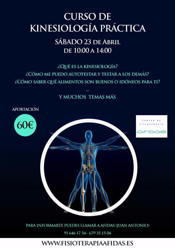 Taller de Kinesiología práctica  en el Centro de Fisioterapia AFIDAS